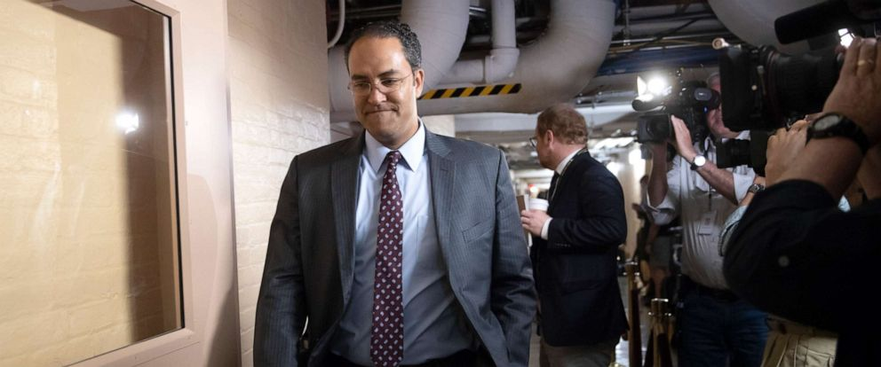 PHOTO: Rep. Will Hurd, whose congressional district runs along the majority of Texass border with Mexico, arrives for a closed-door GOP meeting in the basement of the Capitol in Washington, June 7, 2018.