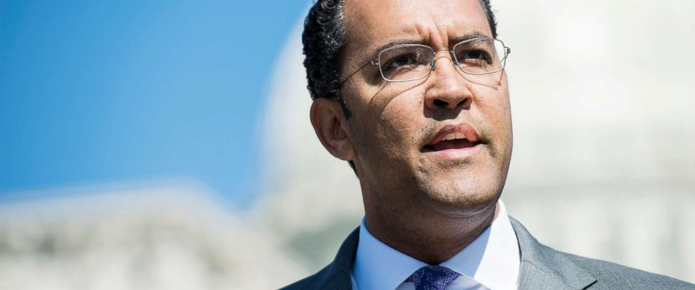 PHOTO: Rep. Will Hurd speaks during a news conference in Washington D.C., April 18, 2018.