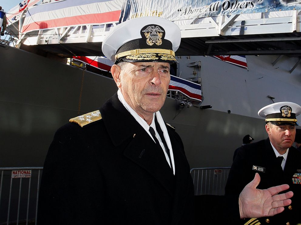 Admiral tapped to lead US Navy declines Job, Retires
