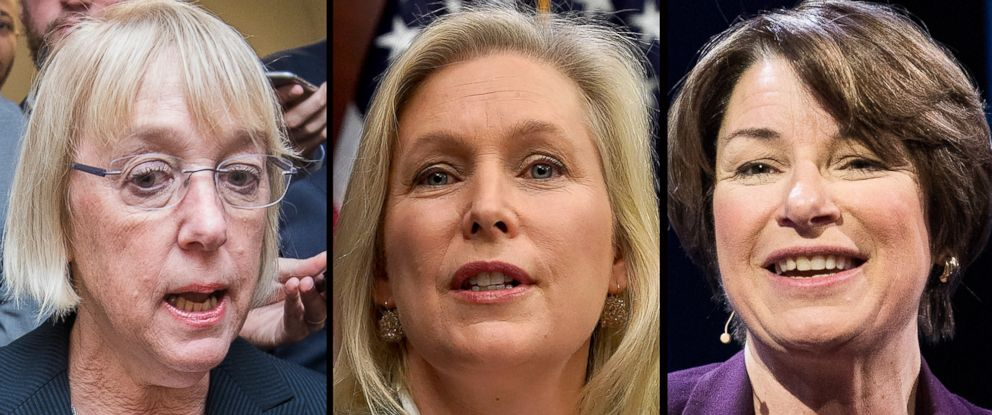 PHOTO: Left to right: Senators Patty Murray, Kirsten Gillibrand, and Amy Klobuchar.