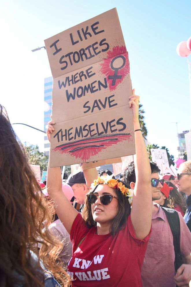 PHOTO: One of the participants at the 2018 Womens March in Los Angeles, Jan. 20, 2018.