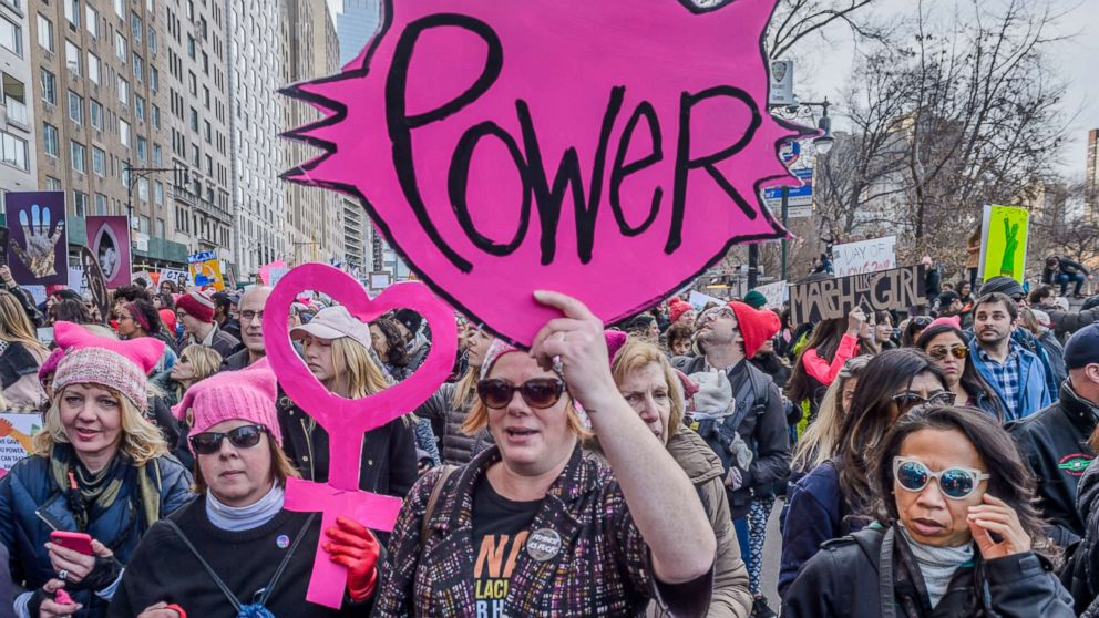 """New York City raised its voice again to demand equality for all humans at the 2018 Womens March, Jan. 20, 2018, in New York City. Over a hundred thousand New Yorkers took the streets on Central Park West from Columbus Circle to 86 Street to send a message to the Trump administration,  """"We wont stop until all individuals are treated equally NOW!."""""""