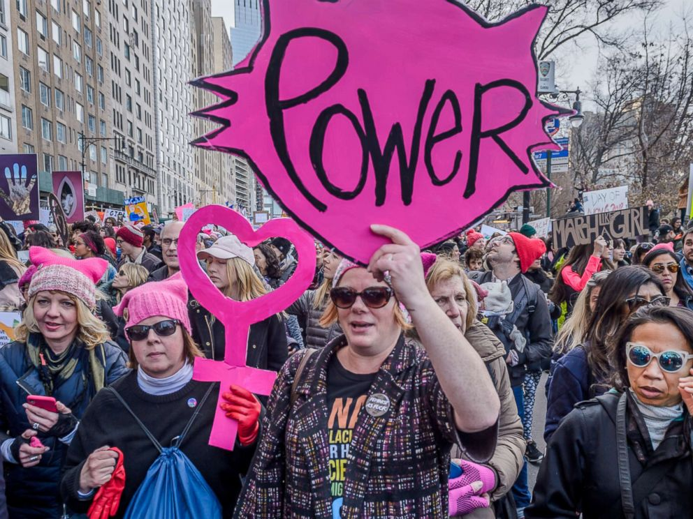 PHOTO: New York City raised its voice again to demand equality for all humans at the 2018 Womens March, Jan. 20, 2018, in New York City.