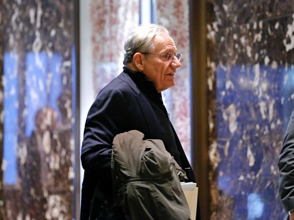 PHOTO: Bob Woodward arrives for meetings with President Donald Trump at Trump Tower in New York, Jan. 3, 2017.