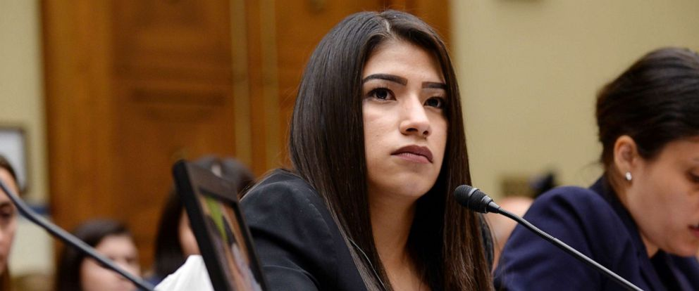PHOTO: Yazmin Juarez, mother of 19-month-old Mariee, who died after detention by U.S. Immigration and Customs Enforcement, testifies before a House Oversight Subcommittee on Civil Rights and Human Services hearing in Washington, July 10, 2019.