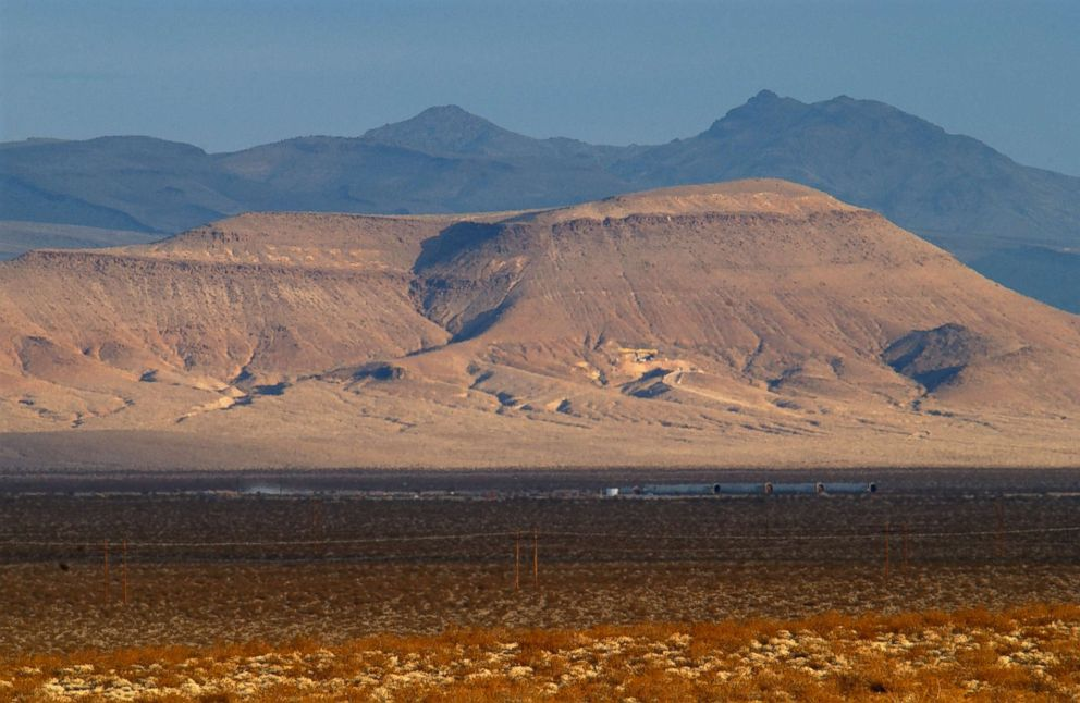 A view of Yucca Mountain Nuclear Waste Repository in Nevada.