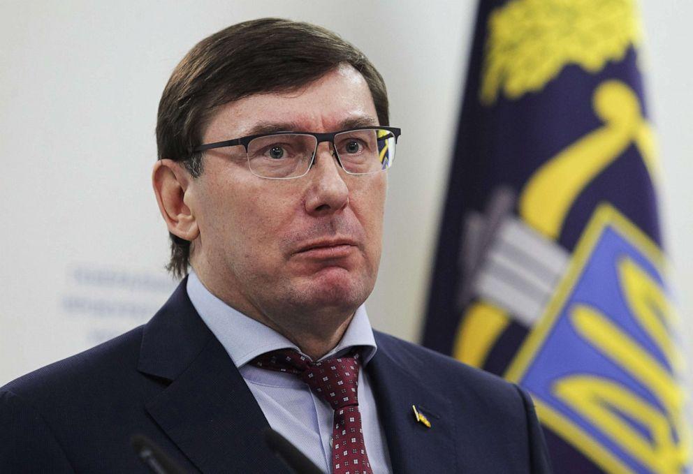 PHOTO: Prosecutor General Yuriy Lutsenko speaks during a press conference in Kiev, Ukraine, March 07, 2019.