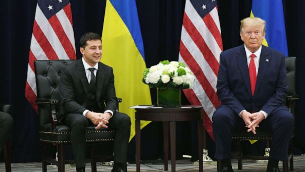 Ukrainian president says there was 'no blackmail' in infamous July phone call with Trump
