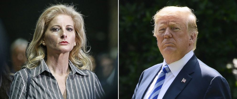 PHOTO: Summer Zervos, who is suing President Donald Trump in a defamation lawsuit, leaves Manhattan Supreme Court after a hearing in New York, Dec. 5, 2017. President Donald Trump walks to Marine One on the South Lawn of the White House, June 1, 2018.