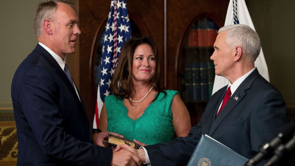 Interior Allowed Secretary Ryan Zinke