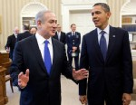 PHOTO: President Barack Obama and Prime Minister Benjamin Netanyahu of Israel talk before their bilateral meeting in the Oval Office, March 5, 2012, in Washington.