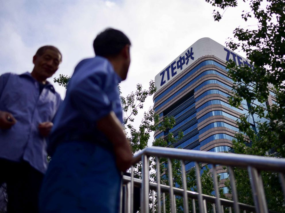 ZTE stock falls after US penalties over Iran, North Korea