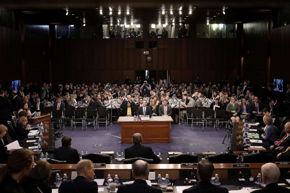 Zuckerberg testifies before a Senate Judiciary and Commerce Committees joint hearing regarding the companys use and protection of user data on Capitol Hill in Washington