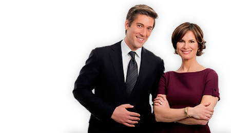 David Muir and Elizabeth Vargas