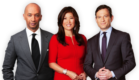 Byron Pitts, Juju Chang and Dan Harris