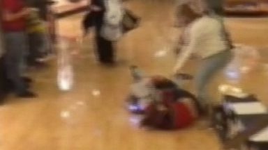 PHOTO: Shocking video apparently shows a woman using a stun gun on another shopper during a brawl on Black Friday.