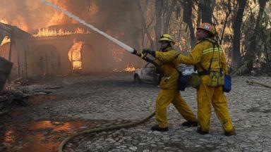 PHOTO: The Colby Fire burns above Glendora, Calif., Jan. 16, 2014.