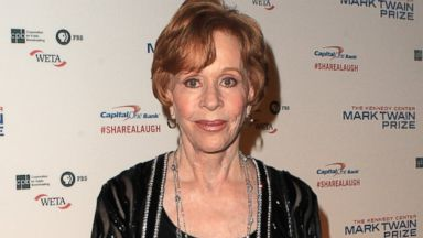 PHOTO: Carol Burnett arrives at 16th Annual Mark Twain Prize presented to Carol Burnett at the Kennedy Center, Oct. 20, 2013, in Washington.