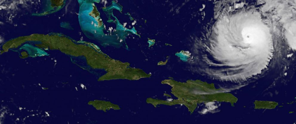 PHOTO: This image shows Hurricane Gonzalo, lower right, which forecasters said could become a powerful category 4 storm as it heads toward Bermuda, Oct. 14, 2014.