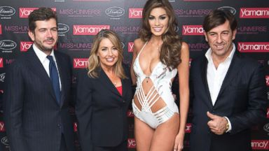 PHOTO: Second from right, Gabriela Iser poses in a $1 million swimsuit.