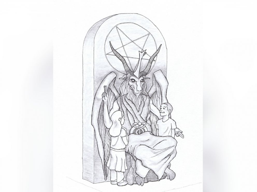 PHOTO: A Satanist group unveiled a statue design it hopes to put at the Oklahoma State Capitol.