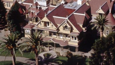 PHOTO: This is an aerial view, taken in 1994, of the Winchester Mystery House in San Jose, Calif.