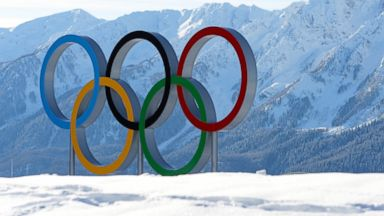 PHOTO: The Olympic rings are seen ahead of the Sochi 2014 Winter Olympics at the Laura Cross-Country Ski and Biathlon Center, Feb. 4, 2014 in Sochi, Russia.