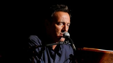 """PHOTO: Bruce Springsteen performs at the 7th annual """"Stand Up For Heroes"""" event at Madison Square Garden, Nov.6, 2013 in New York."""