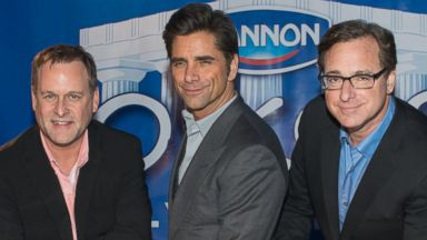 PHOTO: Dave Coulier, John Stamos and Bob Saget, Jan. 29, 2014, in New York City.