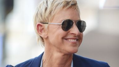 PHOTO: Ellen DeGeneres attends the star unveiling ceremony for actor and radio host Steve Harvey in Hollywood, Calif., May 13, 2013.