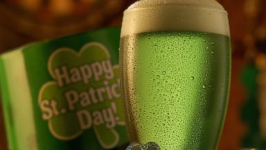 PHOTO: Green beer is prepared for St. Patricks Day.