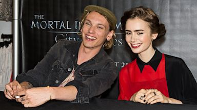 PHOTO: Jamie Campbell Bower and Lily Collins
