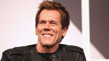 "PHOTO: Actor Kevin Bacon speaks onstage at ""6 Degrees of Kevin Bacon: A Social Phenomenon Turns 20"" during the 2014 SXSW Music, Film + Interactive Festival at Austin Convention Center, March 8, 2014 in Austin, Texas."