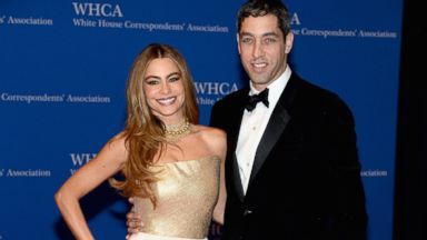 PHOTO: Sofia Vergara and Nick Loeb attend the 100th Annual White House Correspondents Association Dinner at the Washington Hilton on May 3, 2014 in Washington.