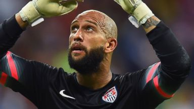 PHOTO: Goalkeeper Tim Howard of the United States looks on during the 2014 FIFA World Cup Brazil on July 1, 2014 in Salvador, Brazil.