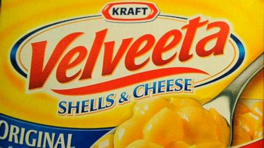 PHOTO: Boxes of Velveeta Shells and Cheese sit on a store shelf August 4, 2011 in Los Angeles.