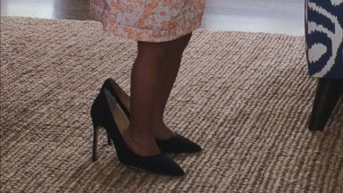 PHOTO: Beyonce shared this photo on <a href=&quot;http://beyonce.com&quot; target=&quot;_blank&quot;>Beyonce.com</a> of Blue Ivy wearing her heels.