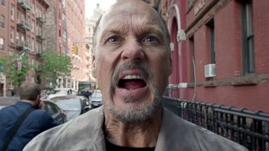 "PHOTO: Michael Keaton is shown in the ""Birdman"" trailer."