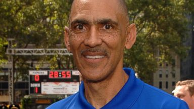 PHOTO: Former NFL Coach Tony Dungy attends Madden NFL 12 Pigskin Pro-Am in Bryant Park in this July 27, 2011 file photo taken in New York City.