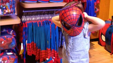 """PHOTO: Actress Tiffani Thiessen posted this photo on Twitter and Whosay with the caption, """"My little spidergirl"""" on August 4, 2013."""
