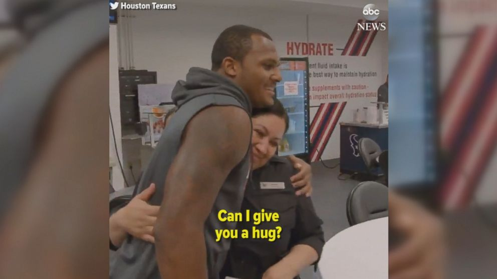 Houston Texans quarterback's emotional donation