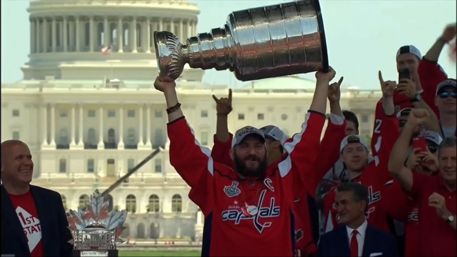bab3f2584cf Thousands of fans celebrate the Washington Capitals  1st Stanley Cup win -  ABC News
