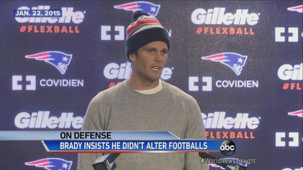 Tom Brady is investigated for deflated footballs.
