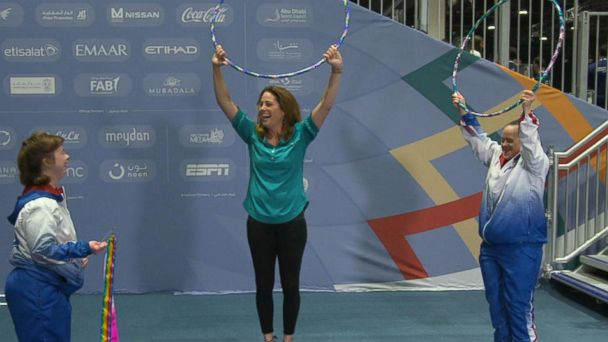 Learning rhythmic gymnastics with Team USA at the Special Olympics World Games