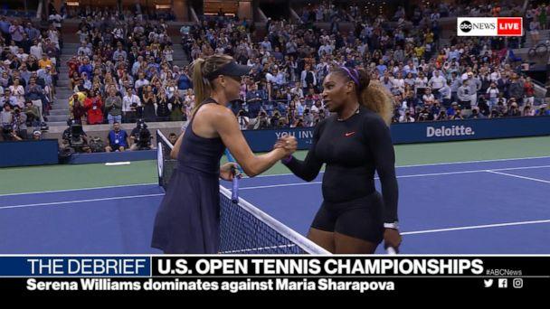 Serena Williams dominates against Maria Sharapova