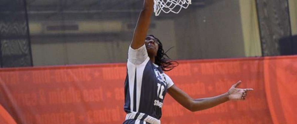 PHOTO: Ashlyn Watkins threw down a slam dunk in the Junior NBA World Championship on Wednesday.