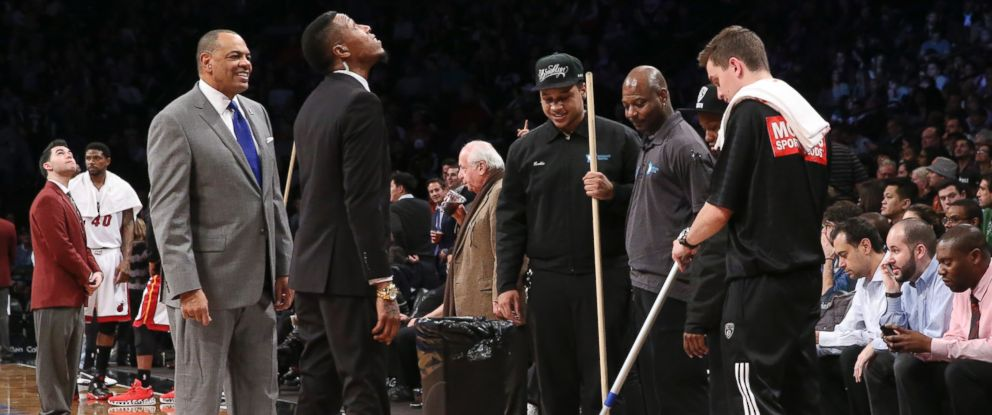 Water Leak At Barclays Center Causes Rain Delay During Nba
