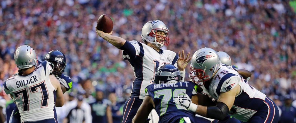 PHOTO: New England Patriots quarterback Tom Brady throws a pass during the first half of NFL Super Bowl XLIX football game against the Seattle Seahawk, Feb. 1, 2015, in Glendale, Ariz.