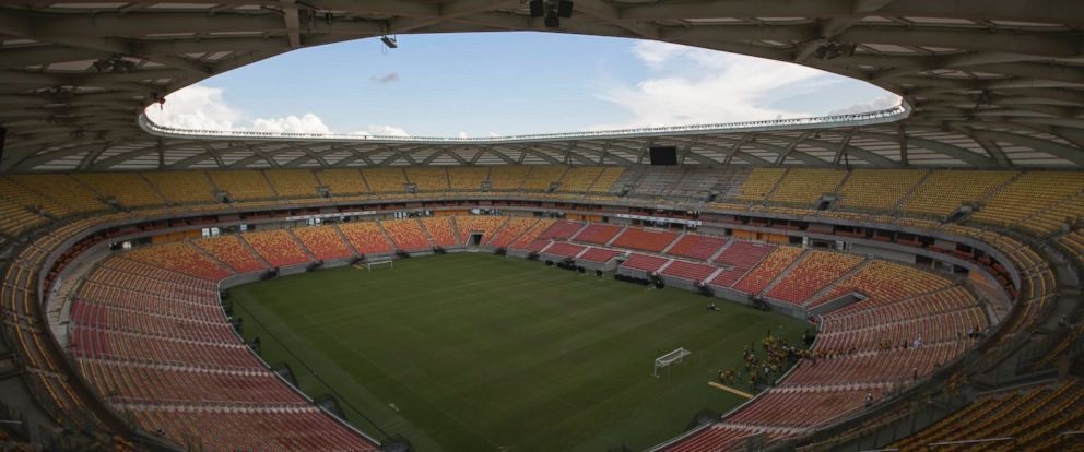 PHOTO: General view of the Arena da Amazonia soccer stadium in Manaus, Brazil, May 20, 2014. .
