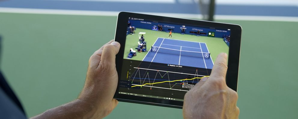 PHOTO:IBMs Coach Advisor tool for tennis training in use.